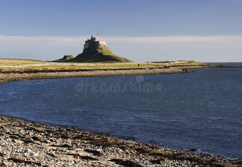 Lindisfarne - isla santa - Inglaterra fotos de archivo libres de regalías