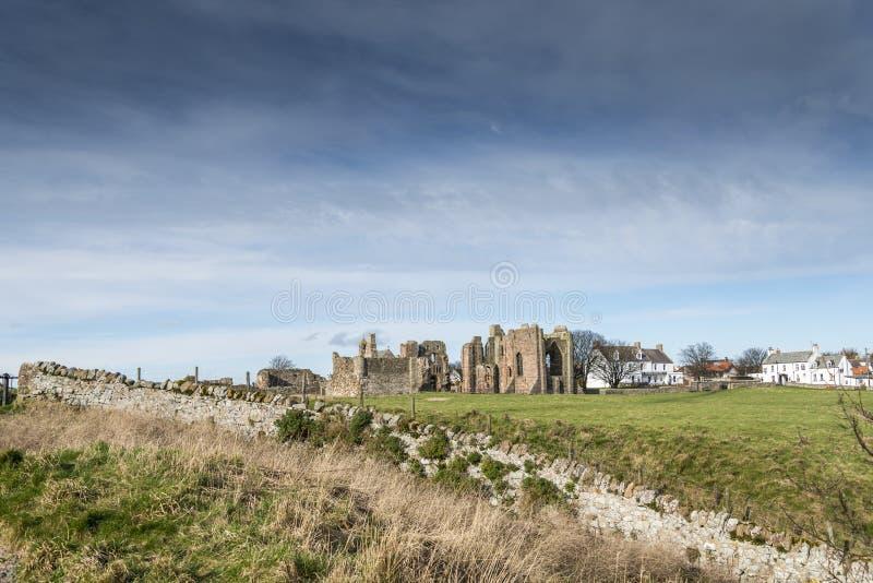 Lindisfarne priorskloster royaltyfria bilder
