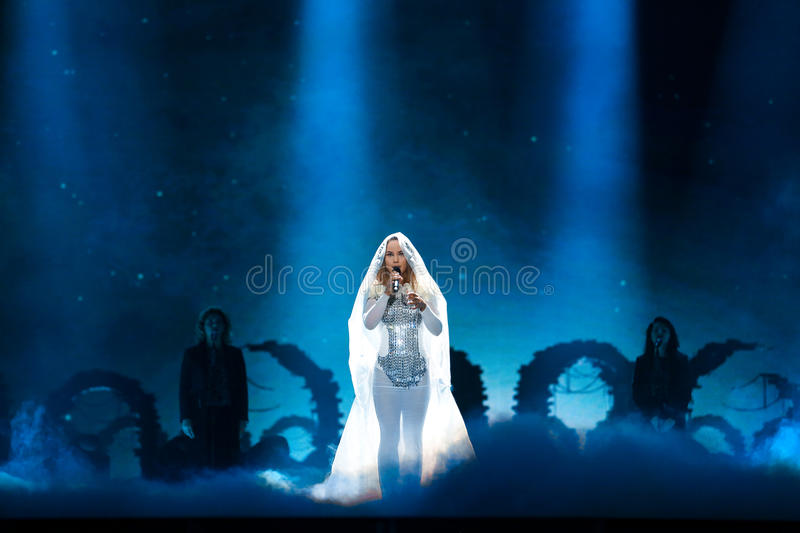 Lindita from Albania at the Eurovision Song Contest royalty free stock images