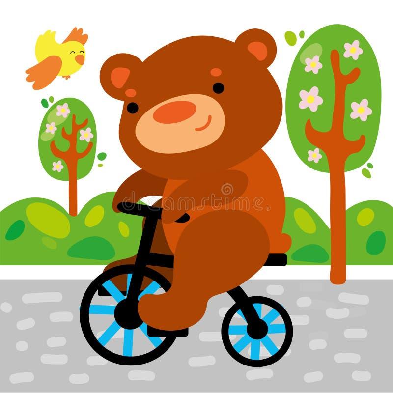 Lindo refiera el ejemplo gr?fico del ni?o de la bicicleta libre illustration
