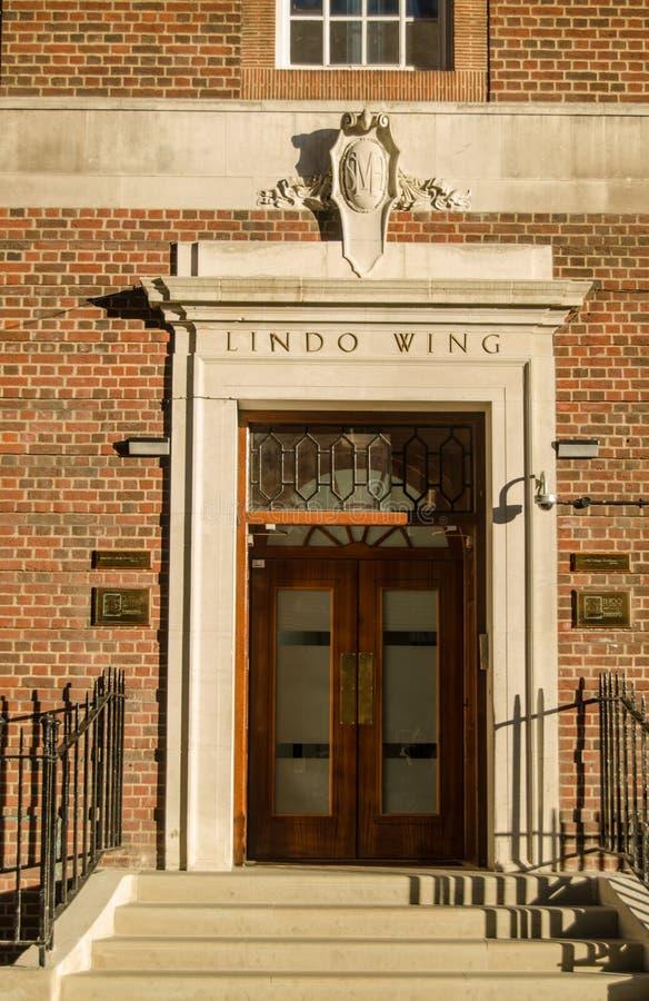 Lindo Wing Entrance, l'hôpital de St Mary photographie stock