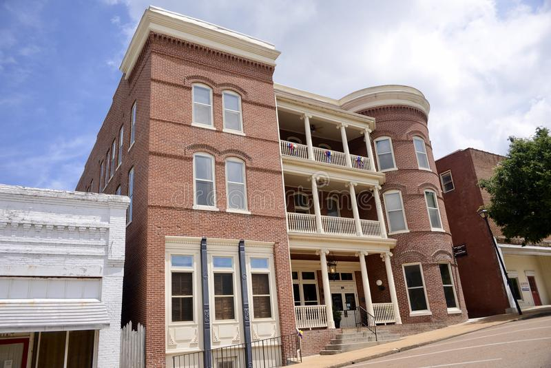 Lindohotel in Covington Tennesse stock foto