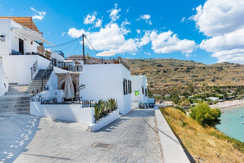 Lindos村庄罗得岛,希腊议院/别墅  图库摄影