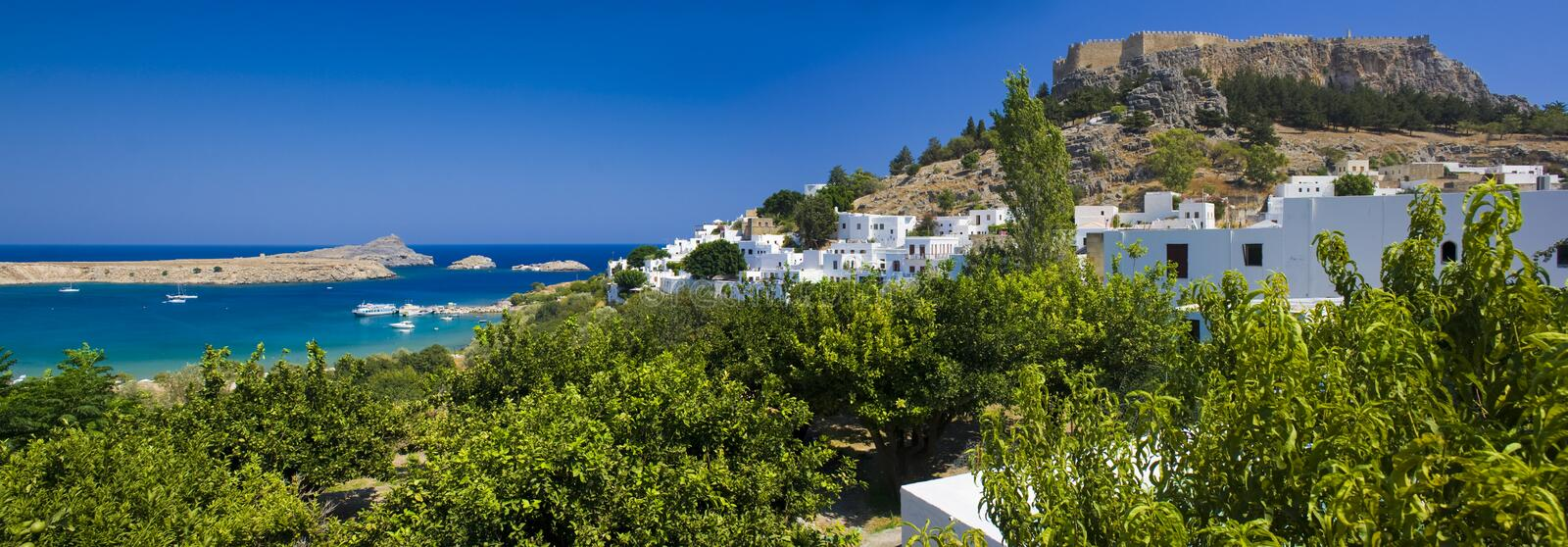 Download Lindos stock image. Image of fortress, castle, culture - 21333963