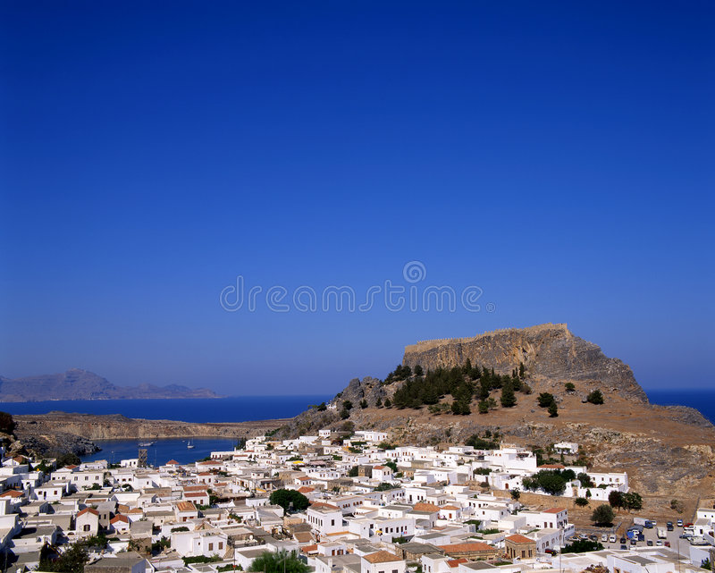 Download Lindos stock photo. Image of houses, destination, aegean - 4737706