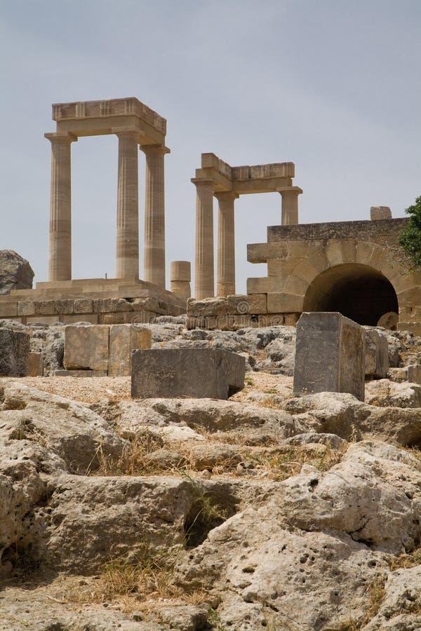 Lindos Akropolis Griechenland lizenzfreies stockfoto