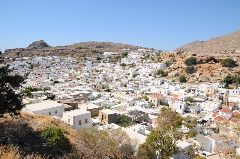 Lindos - Greece imagens de stock