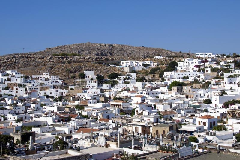 Download Lindos - Griekenland stock foto. Afbeelding bestaande uit huis - 10775630