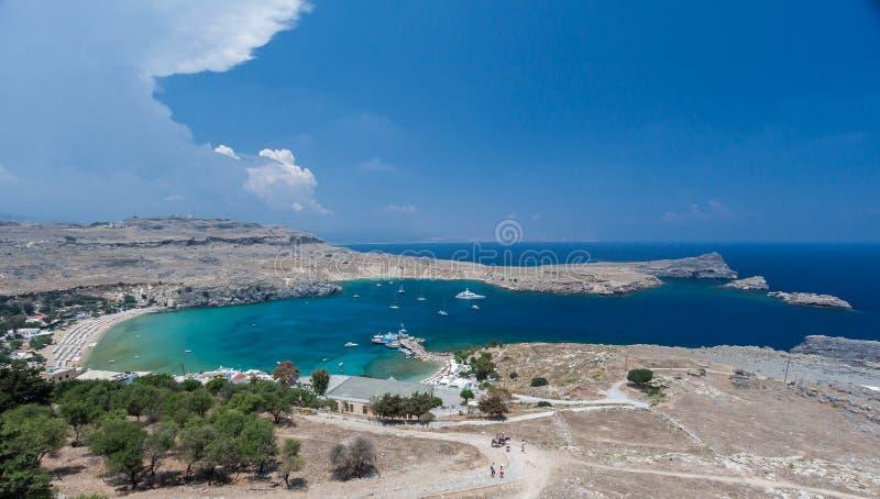 Lindos Rhodes Greece royalty-vrije stock fotografie