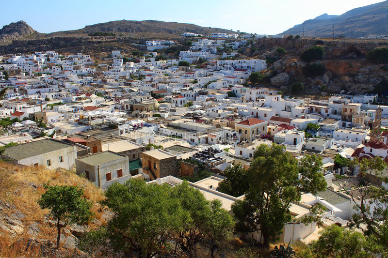 Lindos. Rhodes, Greece royalty free stock photography