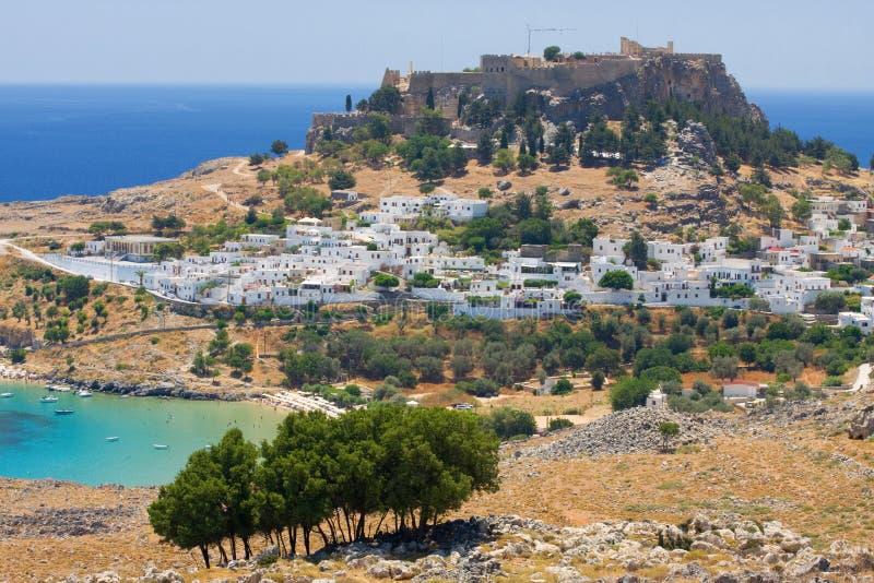 Lindos, Rhodos, Griechenland stockbilder