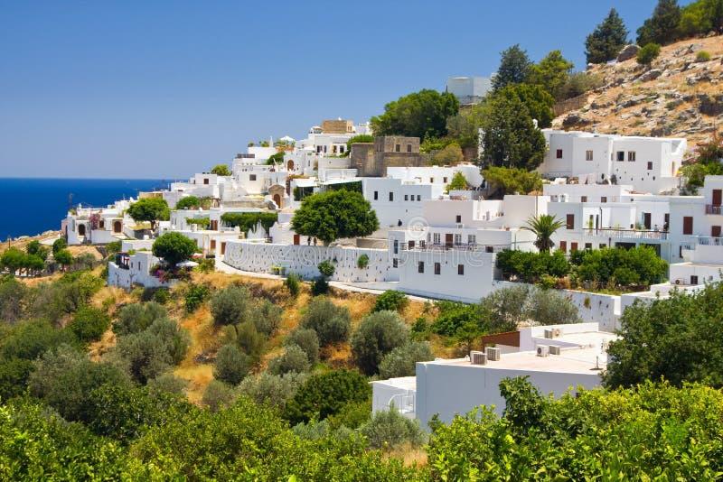 Lindos, Rhodos, Griechenland lizenzfreie stockfotos