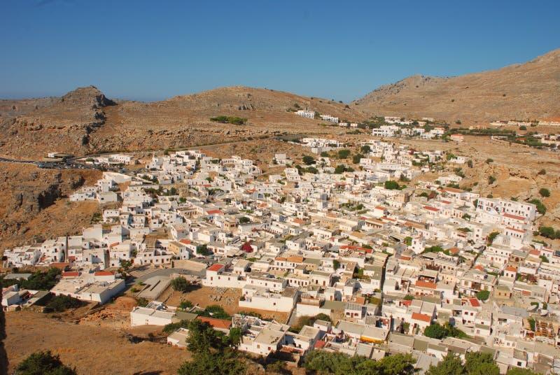 Lindos, Rodi, Grecia royalty-vrije stock afbeelding