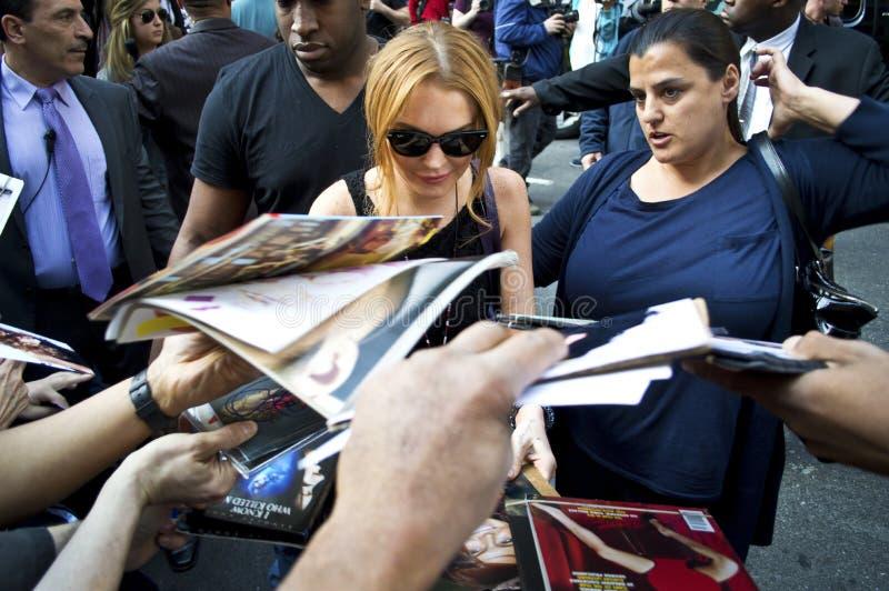 Lindsay Lohan 2013 arkivfoto