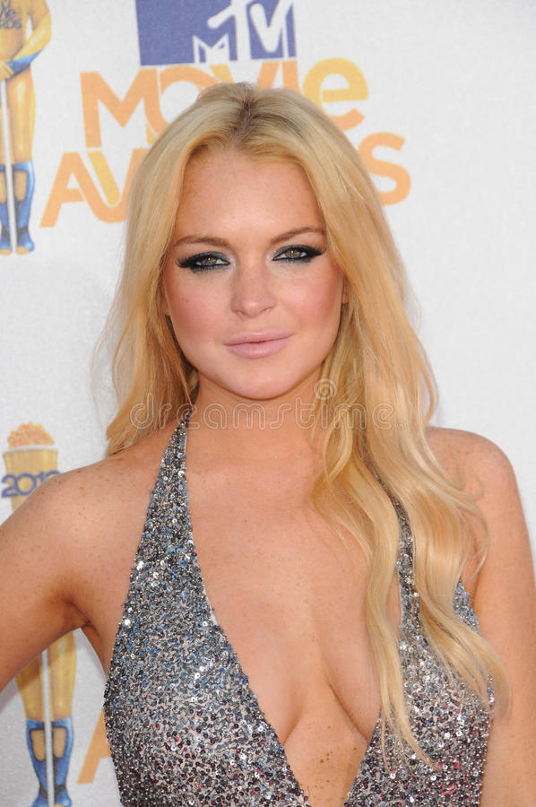Lindsay Lohan imagens de stock