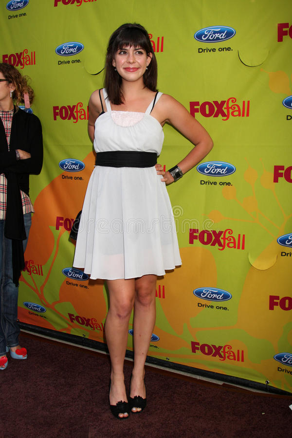 Lindsey Broad. Arriving at the FOX-Fall Eco-Casino Party at BOA Steakhouse in West Los Angeles, CA on September 14, 2009 royalty free stock photo