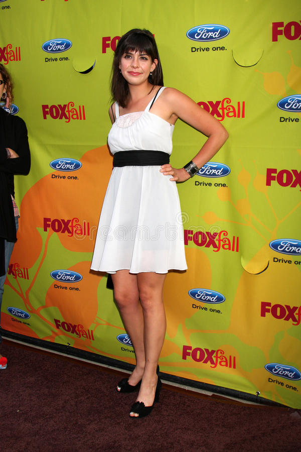 Lindsey Broad. Arriving at the FOX-Fall Eco-Casino Party at BOA Steakhouse in West Los Angeles, CA on September 14, 2009 stock photography