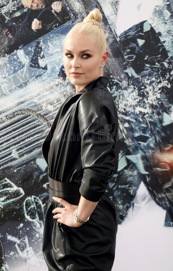 Lindsey Vonn. At the World premiere of `Fast royalty free stock photos