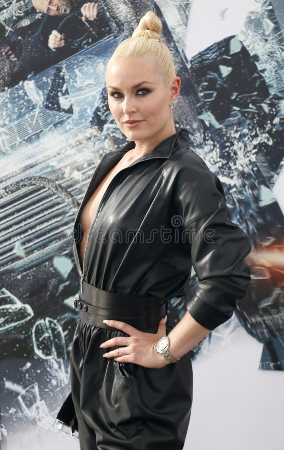 Lindsey Vonn. At the World premiere of `Fast & Furious Presents: Hobbs & Shaw` held at the Dolby Theatre in Hollywood, USA on July 13, 2019 royalty free stock photo