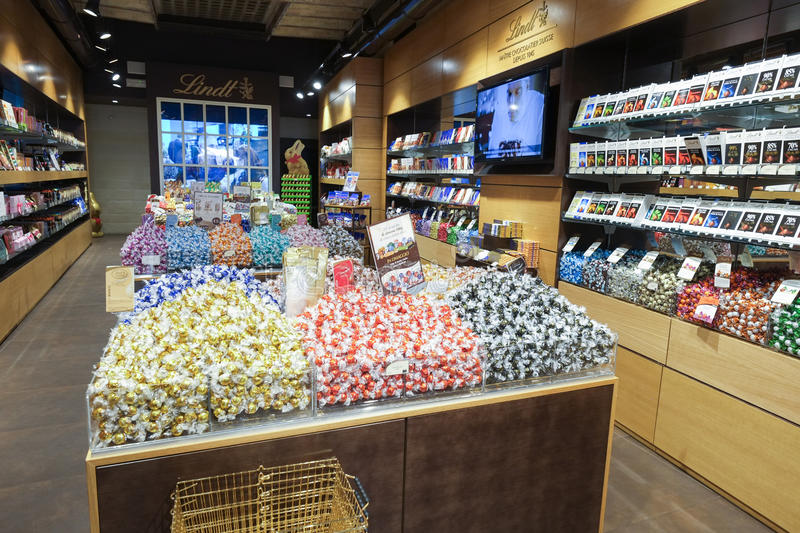 Lindt chocolate and sweet shop