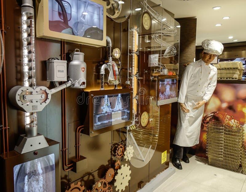 Lindt-Schokoladen-Geschäft in Jungfraujoch lizenzfreies stockfoto