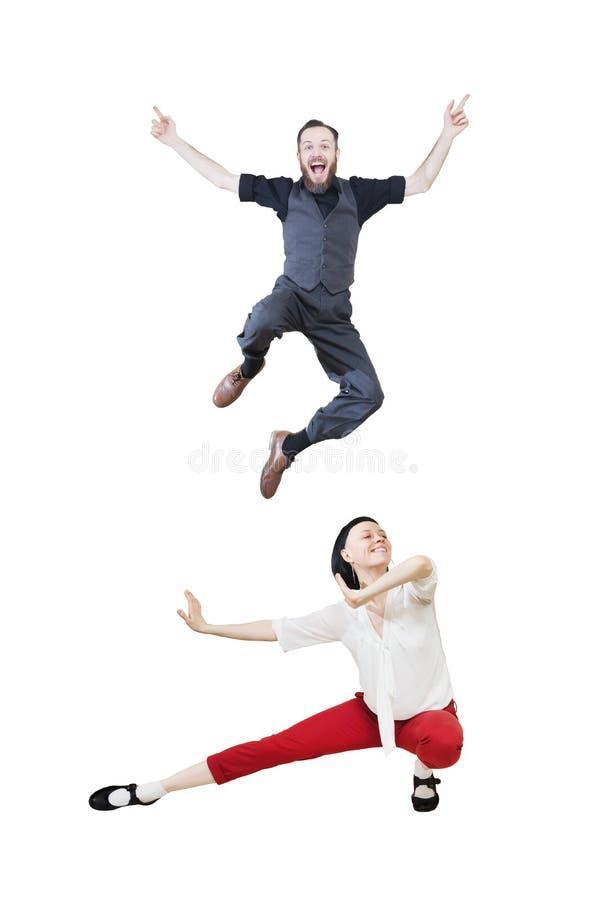 Lindy chmielu lub skały ` n ` rolki tana tana boogie woogie tancerze obrazy royalty free