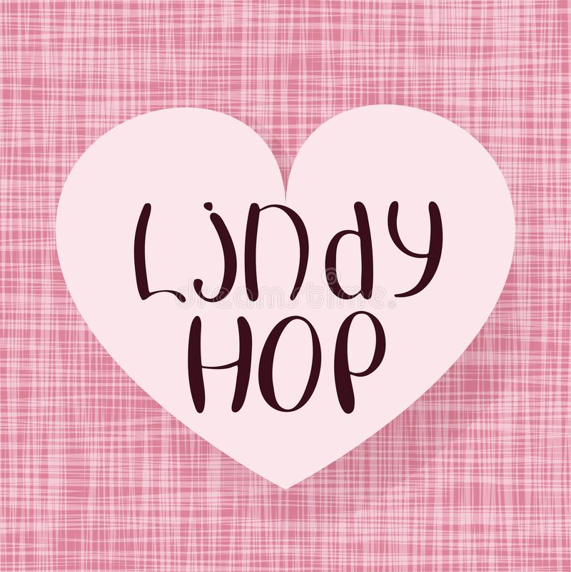 Lindy Hop vektor illustrationer