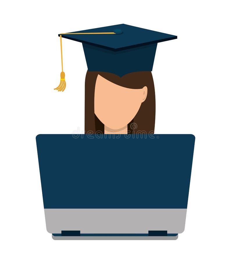 On-line να μάθει και εκπαίδευση διανυσματική απεικόνιση