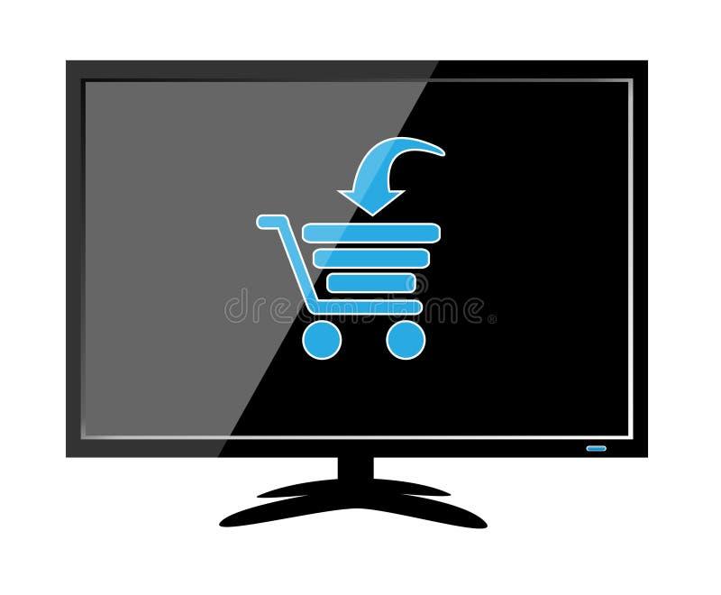 on-line ψωνίζοντας απεικόνιση αποθεμάτων
