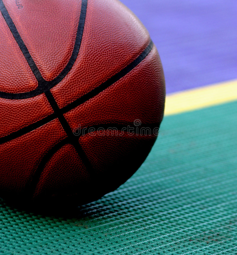 At the Line. Basketball at the free throw line stock photos