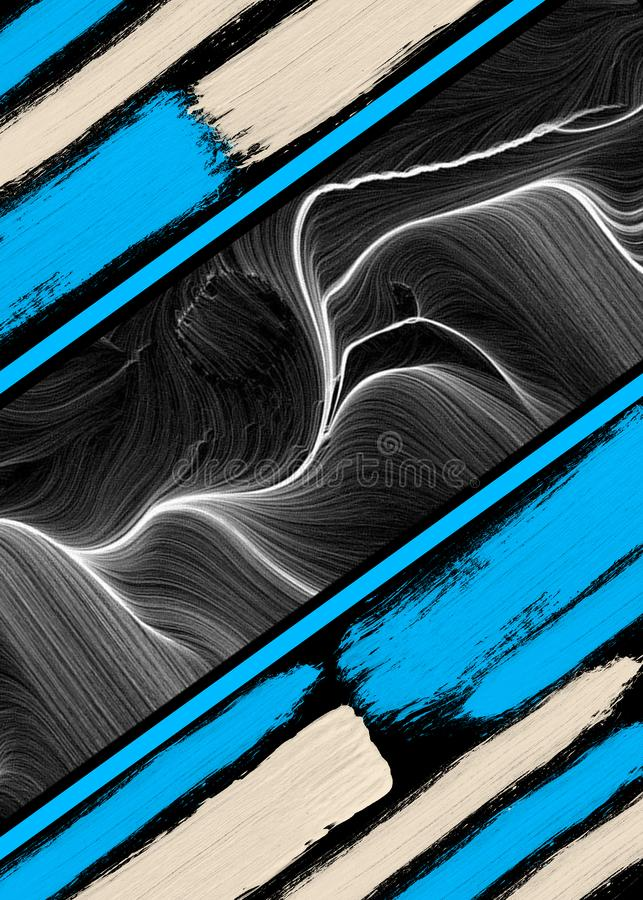 Line abstrack brush wallpapers. Hight quality images are perfect for background or tees full print royalty free illustration