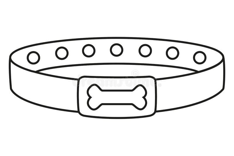 Line Art Black And White Dog Collar Stock Vector Illustration Of Badge Identification 119558799
