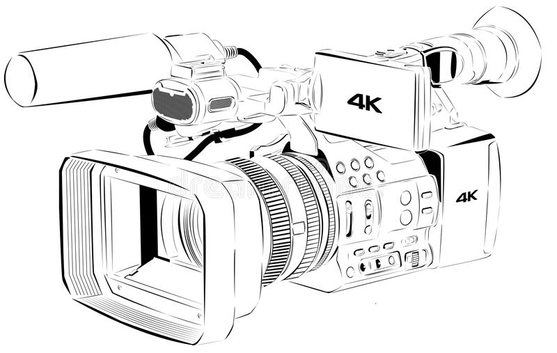 Line art Camera 02 stock image