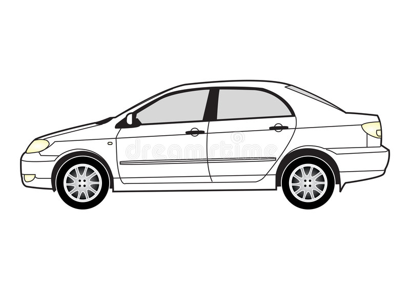 Line art - car royalty free illustration