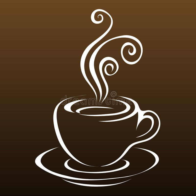 Download Line art coffee 3 stock vector. Illustration of saucer - 14977743