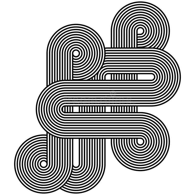 Abstract Line Art Design : Line art design stock vector image