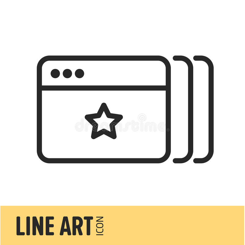 Line Art Icon vector illustration