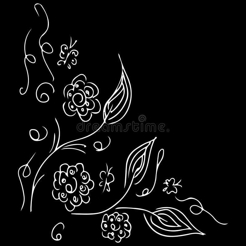 Line art set on white backdrop. Engraving hand drawing illustration. Vector illustration art. Vintage floral pattern. Hand drawn. Design element. Flower vector vector illustration