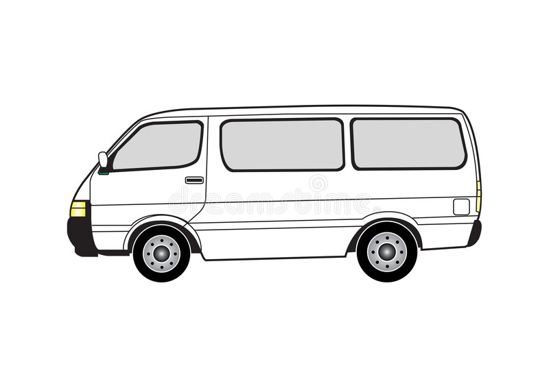 Line Drawing Van : Line art van stock vector illustration of commercial
