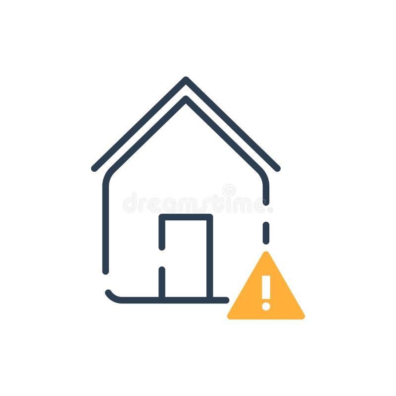 Line Art vector icon. smart home error stock illustration