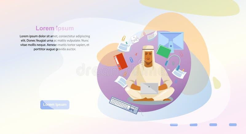 On-line-Büro-Service-Webseiten-Vektor-Schablone lizenzfreie abbildung