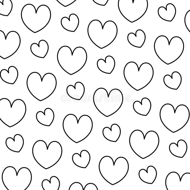 Line beauty heart romance symbol background. Vector illustration royalty free illustration
