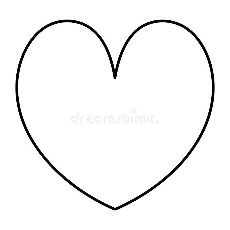 Line beauty heart romance symbol style. Vector illustration stock illustration