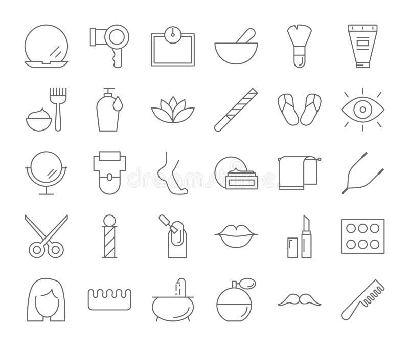 Beauty icons set. stock illustration