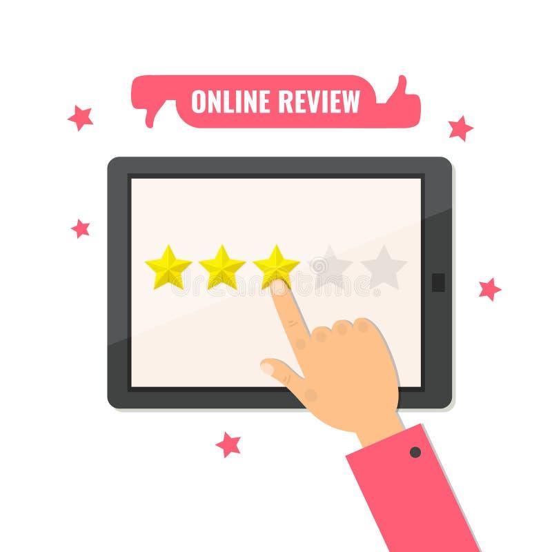 On-line-Bericht Sternbewertung Feedback-Konzept r lizenzfreie abbildung