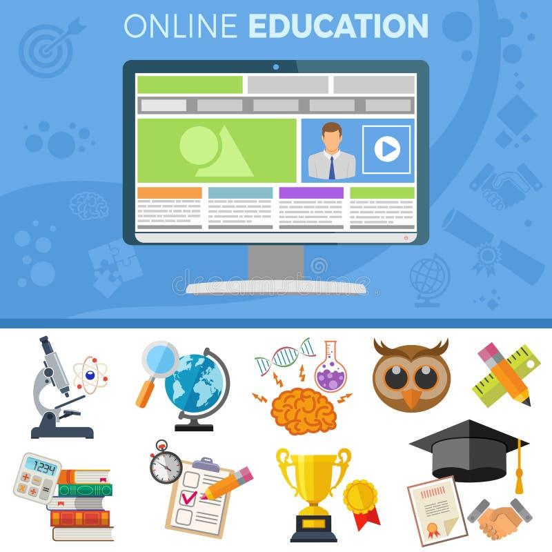 On-line-Bildungs-Fahne lizenzfreie stockfotos