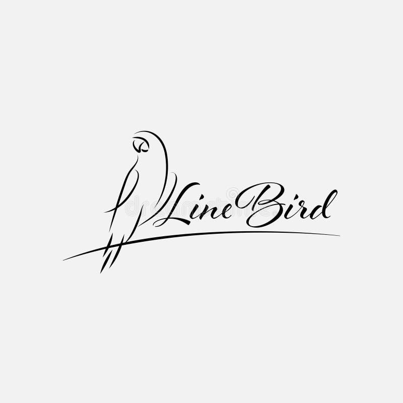 Line bird logo design template vector isolated vector illustration