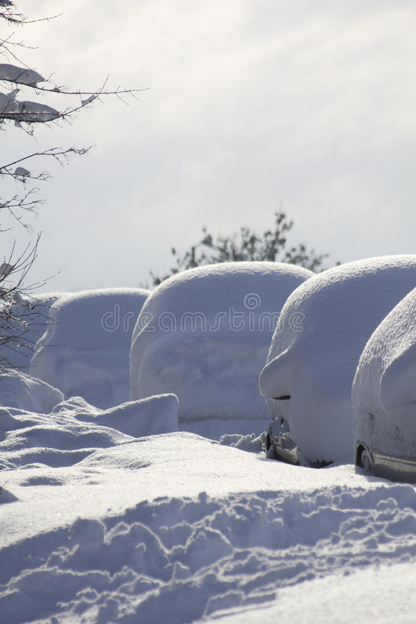 Download Line of buried cars stock image. Image of road, nobody - 17492549