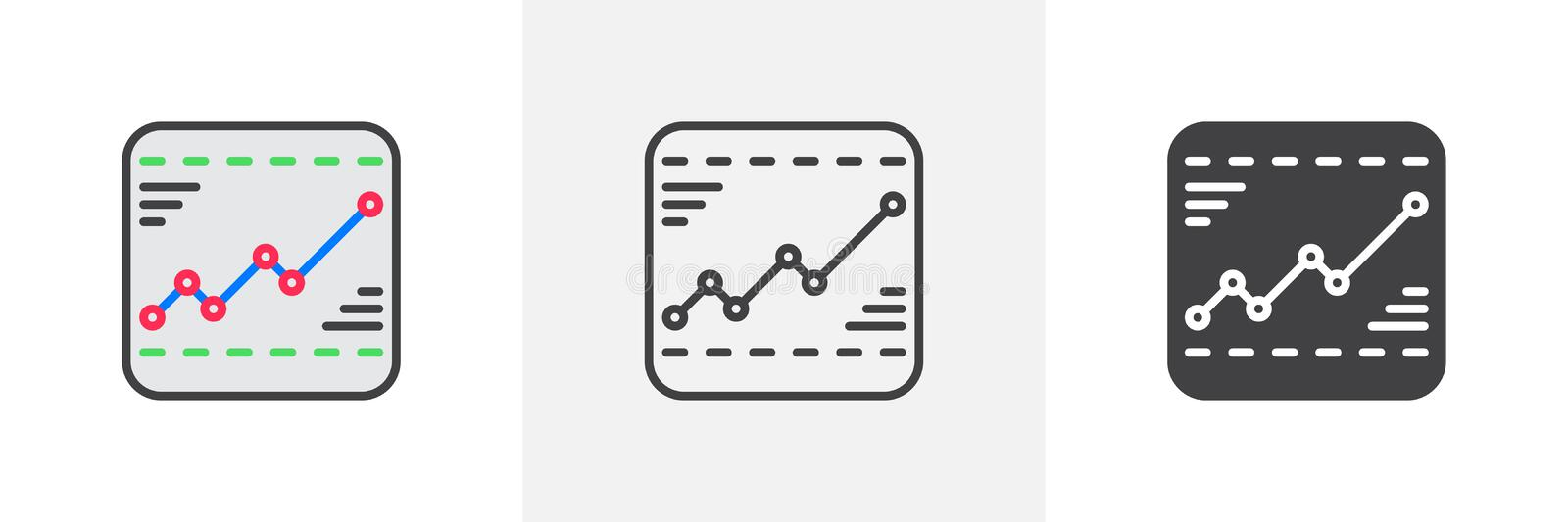 Line chart icon royalty free illustration