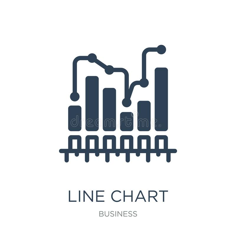 line chart statistics icon in trendy design style. line chart statistics icon isolated on white background. line chart statistics vector illustration